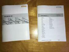 MS 660 MS660 Stihl Chainsaw Service Workshop Repair & Parts List Diagram Manual