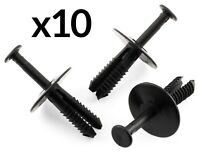 10x Wheel Arch Bumper Rivet Body Panel Retaining Trim Clips for BMW Black Plasti
