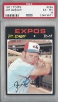 1971 Topps baseball card #284 Jim Gosger, Montreal Expos graded PSA 6
