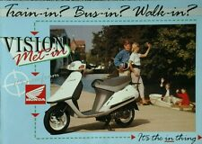 HONDA Vision Met-En Reino Unido Folleto De Ventas - 1989 #