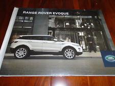 Range Rover Evoque brochure 2012 ref 3928/12