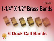 """Duck Call Bands, Brass 1-1/4"""" X 1/2"""" wide, 6 Pack (1/2 dozen)"""