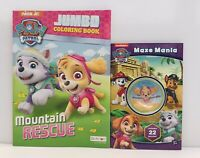 2pc Paw Patrol Gift Set Maze Mania with Toy Maze + Jumbo Coloring Activity Books