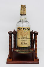 Ältere Whisky Werbung - 1 Gallone Dispenser Holz Rack Old Crown Whiskey Spender