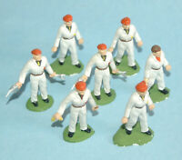vintage 1963 CORGI TOYS England plastic GARAGE ATTENDANTS 7 figures SET #1505