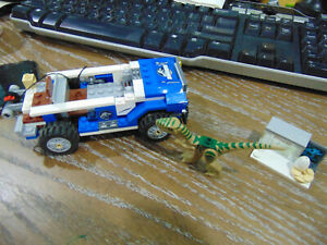 Jurrasic Park Legos Parts and Pieces, NOT COMPLETE