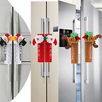 Christmas Fridge Handle Cover Santa Claus Microwave Oven Dishwasher Door Handle