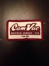 "Cam-Vac Oilfield Service Ltd 3"" Patch Sew On Hayter Alberta Canada Oil Rig AB"