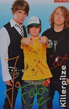 KILLERPILZE - Autogrammkarte - Autogramm Fan Sammlung Clippings