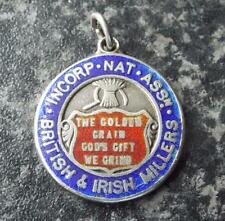 British & Irish Millers - Vintage 1909 Sterling Silver & Enamel Fob Medal