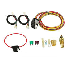 DUAL ELECTRIC COOLING FAN WIRING INSTALL KIT 185/165 THERMOSTAT 50 AMP RELAY