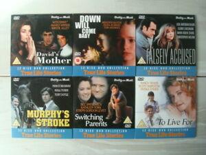 6 x TRUE LIFE STORIES Films - Mail Promo DVDs - Brosnan, York, Alley, etc. - NEW