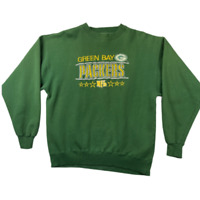 Vintage Majestic Mens Crew Neck Green Bay Packers NFL Football Sweatshirt Size M