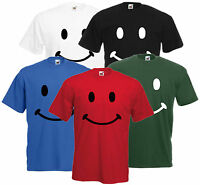Retro Smiley Face Unisex Happy Funny Comedy Rave Cotton T-Shirt
