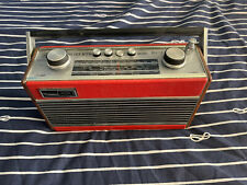 More details for vintage roberts radio rfm3 - lf/mf/vhf - red - fully working