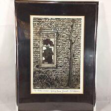 Deborah A. Watchorn Signed Limited Edition Etching Broken Window Gedling House