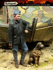 1/35 Scale resin model kit French Tank Crewman and Dog