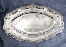 PUIFORCAT : Sublime grand Plat ovale Argent Massif St. Louis XVI +1192 gr