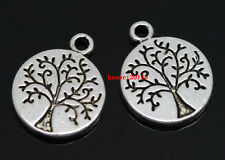 Wholesale 40pcs beautiful Tibet Silver tree Jewelry Finding Charm Pendant 13mm