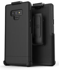 Encased Samsung Galaxy Note 9 Belt Clip Case, Slim Cover with Holster - Black