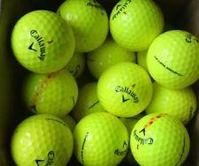 20 Callaway Chrome & Chrome Soft Yellow Golf Balls A Grade