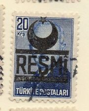 Turkey 1951-54 Early Issue Fine Used 20k. Resmi Optd 086209