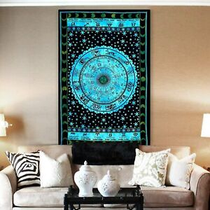 Tie Dye Hippie Tapestry | Mandala Wall Hanging Bedding Tapestry | Multi Color