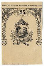 Org. AK Silber Hochzeitsfeier Kaiserpaar in Emden 1881 1906 Rhein Ems Zeitung