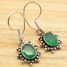 Plated Green Onyx Earrings Gorgeous Free Shipping on Additional Items! Silver