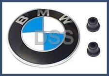 New Genuine BMW Hood Emblem Roundel Kit + Clips OEM Original + Warranty