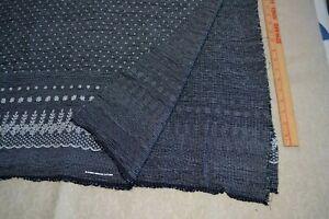 "Cotton apparel fabric 46"" x 3.6 yards, black & white reversible border print"