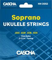 Cascha Sopran Ukulele Saiten - Fine Nylon .024 .030 .036 .025 (G C E A) - 1 Satz