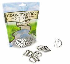 10 - Country Brook Design® 1 Inch Double Bar D-Rings