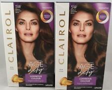 2 x Clairol Age Defy Permanent Hair Dye 5W Medium Chocolate Brown