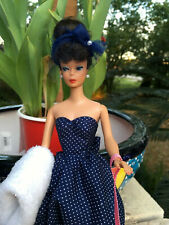 Stunning Gay Parisienne Barbie Hand-Made Strapless Dress, Hat, Stole and Purse