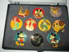 Disney Channel 10th Anniversary 1993 Pin set (10 pins) in original case New