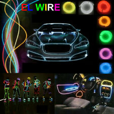Party Decor Battery Operated EL Wire Neon Glow LED Car Light String Strip 3v