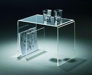 Beistelltisch - Zeitungstisch - Multifunktionstisch - aus Acrylglas - klar