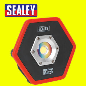 Sealey LED065 Rechargeable Floodlight 10W COB LED Lithium-ion Colour Matching CR