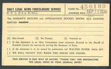 1936 Cleveland Oh Legal News Foreclosure Notice