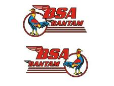 BSA Bantam D1 Tank Transfers Decals Classic Motorcycle Blue Breasted