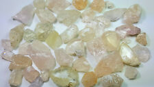 WoW 844Cts Beautiful Pink Color Morganite Crystal & Rough Grade Luster Qty @Afgh