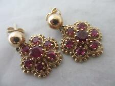 Ruby Earrings Vintage Fine Jewellery