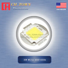 1pcs 30w Watt High Power White 6000 6500k Smd Led Chip Blub Beads Cob Lamp