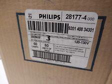 NEW Case LOT of 60 PHILIPS 28177-4 Light Bulb Lamps 300M/IF 120-130V
