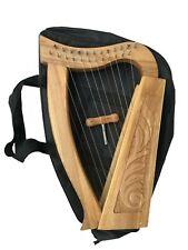 12 Strings Irish Harp, Ash Wood + Free Carry Bag & Tunning key