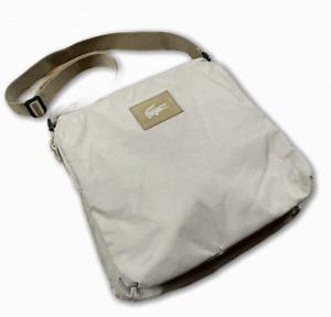 Lacoste Messenger Bag Cream 2 Pockets Over The Shoulder Bag Medium