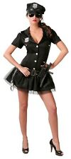 Ladies Sexy American Officer Police Cop Uniform Fancy Dress Costume Outfit 12-14