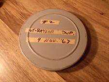 16mm Coach / Scout Film Universtity de Texas V Baylor 1963 Ut Nat' L Champion An