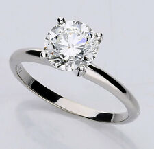 GIA diamond engagement ring solitaire 14K w/gold HVS2 round brilliant 1.61CT NEW